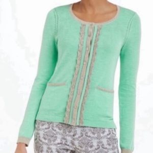 HWR Glimmerade Green Gold Cardigan
